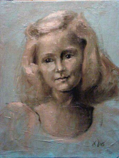 Little Girl Oil Study, by Jackson